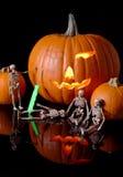Pumpkin Carving Crew Royalty Free Stock Photos