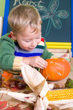 Pumpkin carving Royalty Free Stock Photo