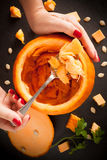Pumpkin Carving Royalty Free Stock Photos
