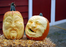 Pumpkin carvings Royalty Free Stock Photos