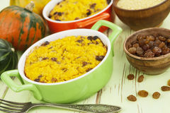 Pumpkin casserole with millet Stock Images