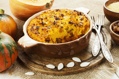 Pumpkin casserole with millet Royalty Free Stock Photography