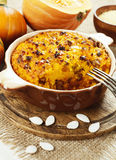 Pumpkin casserole with millet Royalty Free Stock Image