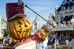 Pumpkin and Castle at Disney Stock Image