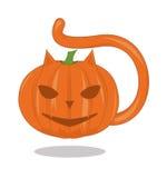 Pumpkin - the cat Royalty Free Stock Photos