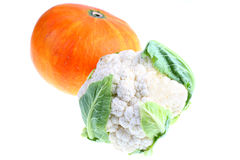 Pumpkin and cauliflower. Royalty Free Stock Image