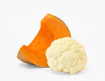 Pumpkin and cauliflower Royalty Free Stock Photos