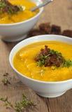 Pumpkin celeriac soup Stock Image