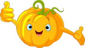 Pumpkin Character  giving thumbs up Royalty Free Stock Photo