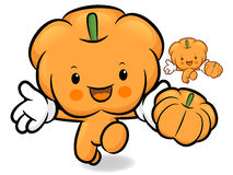 Pumpkin character on Running. Vegetable Character Design Series. Stock Photos