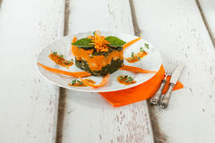 Pumpkin Chard Gnocchi Timbale Royalty Free Stock Photo