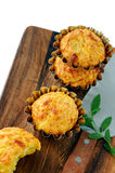 Pumpkin-Cheese Muffins Stock Images