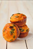Pumpkin and Cheese Muffins Stock Photos
