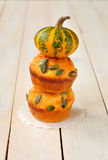 Pumpkin and Cheese Muffins Stock Photography