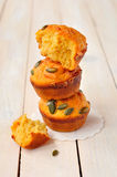 Pumpkin and Cheese Muffins Royalty Free Stock Photos