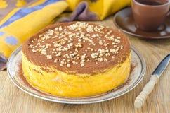 Pumpkin cheesecake Stock Photos
