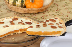 Pumpkin Cheesecake Pie Royalty Free Stock Photography