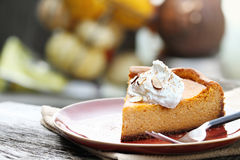 Pumpkin Cheesecake Pie Royalty Free Stock Images
