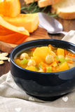 Pumpkin and chickpea soup Royalty Free Stock Images