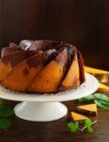Pumpkin chocolate cake Royalty Free Stock Photo