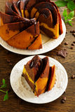 Pumpkin chocolate cake Royalty Free Stock Photos