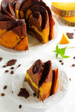 Pumpkin chocolate cake Stock Images