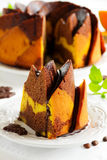 Pumpkin chocolate cake Stock Image