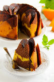 Pumpkin chocolate cake Stock Photo