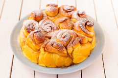 Pumpkin Cinnamon Buns Stock Images