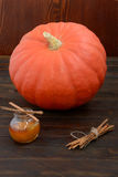 Pumpkin with cinnamon and honey royalty free stock photo