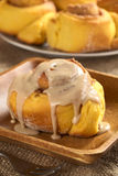 Pumpkin Cinnamon Roll Stock Photography