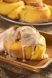 Pumpkin Cinnamon Roll Stock Photography
