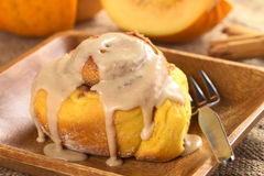 Pumpkin Cinnamon Roll Royalty Free Stock Photography