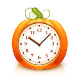 Pumpkin Clock Stock Images
