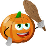 Pumpkin with a club Royalty Free Stock Photography