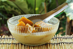 Pumpkin in coconut milk Stock Photography