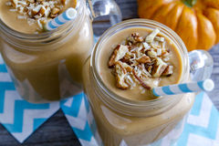 Pumpkin Coconut Smoothie Drinks Royalty Free Stock Image
