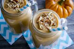 Pumpkin Coconut Smoothie Drinks Royalty Free Stock Photo