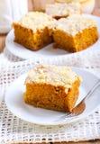 Pumpkin coffee cake Royalty Free Stock Photos