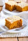 Pumpkin coffee cake Stock Photo