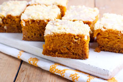 Pumpkin coffee cake Royalty Free Stock Image
