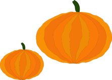 Pumpkin colorful icon. Pumpkin - a big beautiful vegetable, the symbol of Halloween and Thanksgiving Stock Image