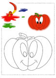 Pumpkin coloring stock photo
