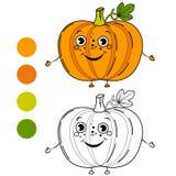Pumpkin. Coloring book page Royalty Free Stock Photos