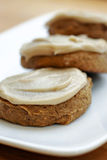 Pumpkin cookies. With carmel frosting royalty free stock photos