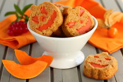 Pumpkin cookies. Stock Image