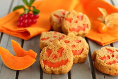 Pumpkin cookies. Royalty Free Stock Image