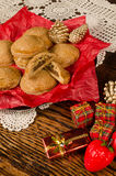 Pumpkin cookies for Christmas royalty free stock images