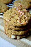 Pumpkin cookies royalty free stock image