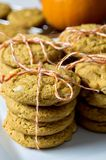 Pumpkin cookies stock photography
